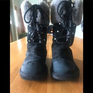 Authentic UGG Boots. Size 9, Black suede.
